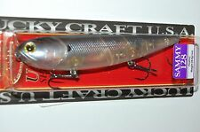"lucky craft sammy 128 topwater lure 5"" 1oz floating ghost tennessee shad pencil"