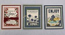 Greeting Cards Handmade Handcrafted Stamped Lot of 3 1-Thank You 2-Birthday