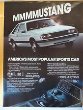 FORD MUSTANG 1980 MAGAZINE Ad FULL PAGE CLIPPING FREE SHIPPING