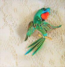 Parrot Blue Green Women's Pin Brooch