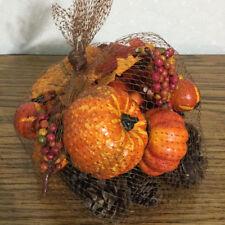 Artificial Gourds Bowl Vase Filler Pumpkins Berries Leaves Pinecones Autumn Fall