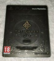 THE ORDER & DEUS EX STEELBOOK/THE EVIL WITHIN LIMITED EDITION CASE PS4 (NO GAME)