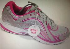 RYKA Women's Sky Walk Athletic Shoes  / Memory Foam Insoles / GRAY/PINK / SIZE 5