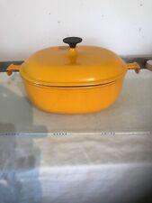 Cousances Le Creuset Enzo Mari La Mama 33 Cast Iron Oval Casserole Dish Mustard