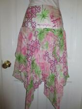NWT $225 LILLY PULITZER Womens GISELLE BELLE VILLA Silk Stretch SKIRT Size 2 XS