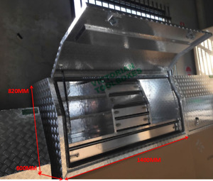 Aluminium Toolboxes Heavy Duty Full Door Ute Truck 5 Drawers 140x60x82cm