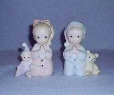 Homco Praying Boy and Girl 2 Figurines Bedtime Prayer No. 1433 Home Interiors
