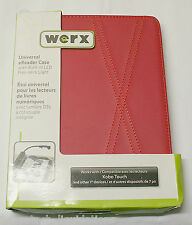 WERX UNIVERSAL EREADER CASE WITH LED FLEX-NECK LITE (RED) - WX-K4P-251