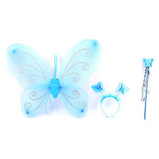 1set Girl Fairy Princess Christmas Costume Butterfly Wing Wand Headband HGUK HV