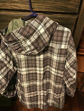 Burton Snowboard Jacket Green Plaid Size X-Large