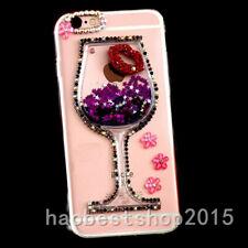 Bling Glitter flowers Dynamic Quicksand back Phone Soft Case Cover For Samsung 1