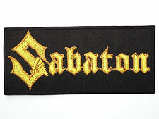 SABATON Logo Heavy Metal Embroidered Iron On Applique Badge Patch 4""