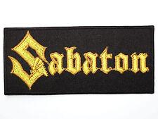 "SABATON Logo Heavy Metal Embroidered Iron On Shirt Applique Badge Patch 4"""