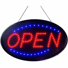 Neon Open Sign For Business Jumbo Lighted With Static And Flashing Modes &ndash