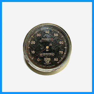 SMITHS SPEEDOMETER 85 MM DIA. MAGNETIC TYPE FROM BRITISH CAR SPEEDO CIRCA 1930S