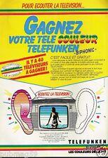 Publicité advertising 1983 Téléviseur télevision Telefunken