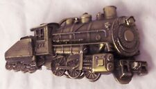 Train Engine Locomotive Brass Belt Buckle Great American Vintage 1980 USA Made