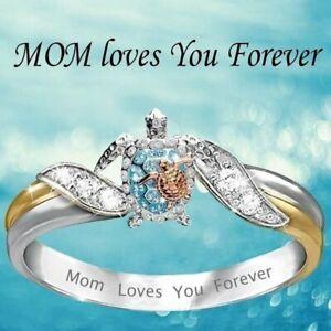 Fashion Zircon Zircon Turtle Finger Ring Women Wedding Engagement Jewelry Gift