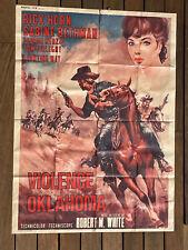 VIOLENCE À OKLAHOMA - AFFICHES D'ÉPOQUE CINÉMA WESTERN - 1965 - WHITE - BETHMAN
