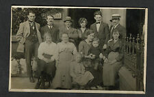 c1910 Photo Card: Family Group of 12 Persons/ Children