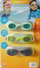 Speedo, 3 Pack, Kids Swim Goggles Ages 3-8, Unisex Yellow Green Fun Prints, NEW