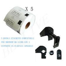 5 X Etichette Compatibili per Brother DK-11209 29mmX62mm QL-570 500 con Telaio