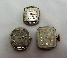 Vtg Lot of 3 Gruen Ladies Watches for Repair or Parts 17 & 15 Jewels Swiss Made