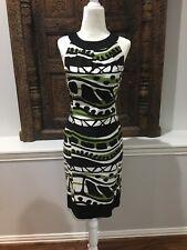 NEW Jones Of New York Black White And Green Dress Size 6