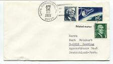 1972 Cape Canaveral Florida Gauting Deutschland West Space Cover
