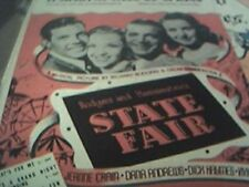 sheet music state fair it might as well be spring dana andrews