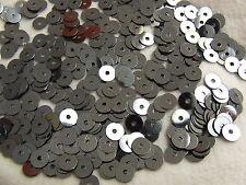 20 Grams 5 mm ca.2800 Gun Metal Toned Loose Round Flat Sequins Dancewear Card