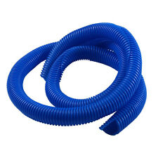 "3/4"" x 4' Convoluted Tube Blue WIRE & HOSE COVER Split Loom Ignition Audio Video"