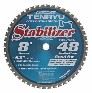 "Tenryu-PRF-20348BWK 8"" x 48CT Metal Steel-Pro Stabilizer Series Blade 5/8"" Arbor"