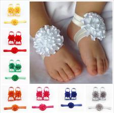 3 Pcs Baby Girls Kid Newborn Infant Headband Head Foot Elastic Hair Accessories