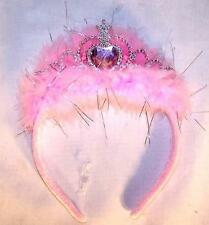 LIGHT UP GIRLS  PRINCESS HEART FEATHER TIARA CROWN  dressup costume new hat NEW
