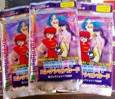 3 PACKS OF 10 TAKAHASHI RUMIKO CARDS EPOCH RANMA 1/2 LUM MAISSON IKKOKU URUSEI