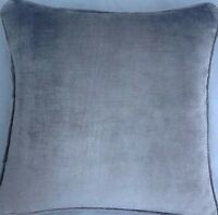 A 16 Inch Cushion Cover In Laura Ashley Murano Sable Velvet Fabric