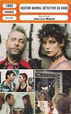 Fiche Cinéma - JEAN-LUC MIESCH - NESTOR BURMA, DÉTECTIVE DE CHOC - 1982