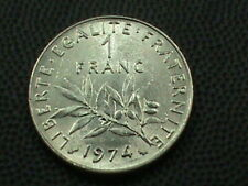 FRANCE  1 Franc  1974  UNC  COMBINED SHIPPING   .10 Cents USA  .29 INTERNATIONAL