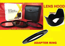 ADAPTER DC67A+FILTER KIT+LENS HOOD 67mm to CAMERA CANON SX60 SX50 SX40 HS CPL UV