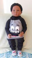 """Reborn Shaun Troy 30"""" Ethnic/Blasian Toddler Doll"""