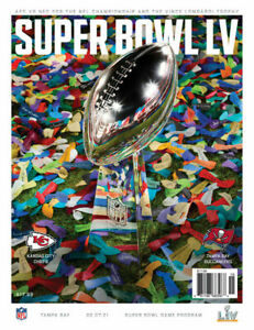 Official Super Bowl 2021 (55) LV Program Buccaneers VS. Chiefs - Free Shipping