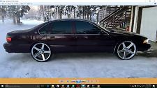 20 X 8.5 Iroc Chrome wheels Rims & Tires fit Impala Buick Canaro