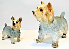 Yorkshire Terrier Mum & Puppy Dog Ornaments Figure Figurines Decoration Gift NEW
