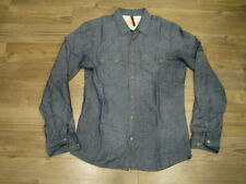 NUDIE JEANS GUSTEN CHAMBRAY SHIRT MENS SMALL