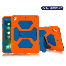 For iPad 5/6th Generation 9.7'' Defender Case Shockproof Rugged Hard Stand Cover