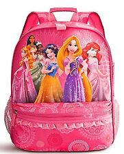 Disney Store Princess School Backpack Ariel Rapunzel Tiana Snow White Pocahontas