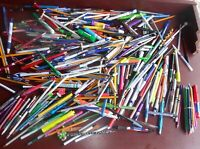 Vintage Advertising Ballpoint Pens, Pencils, Colored, Markers, Lot of over 320+-