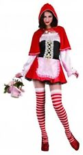 Womens Sexy Red Riding Hood Fancy Dress Costume Ladies Cape Fairy tale Book Week