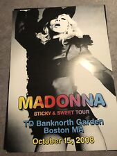 Madonna Sticky & Sweet Tour Rare Lithograph Atlantic City - MDNA Rebel Heart